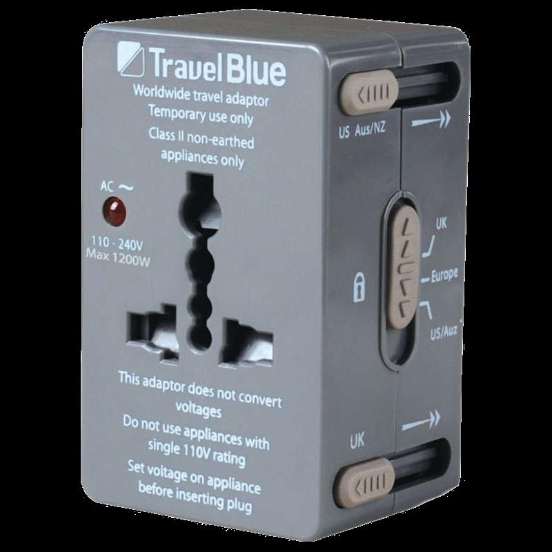 Travel Blue All-In-One Worldwide Travel Adaptor (179, Grey)_1