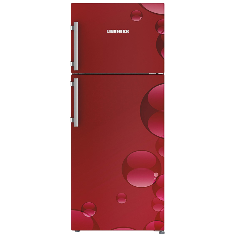 Liebherr 265 L 4 Star Frost Free Double Door Inverter Refrigerator (TCR 2620, Red Bubbles)_1
