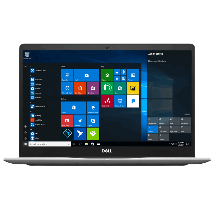 Dell Inspiron 15 7570 A569109WIN9 Core i5 8th Gen Windows 10 Home Laptop (8 GB RAM, 1 TB HDD + 128 GB SSD, NVIDIA GeForce MX130 + 4 GB Graphics, MS Office, 39.62cm, Platinum Silver)_1