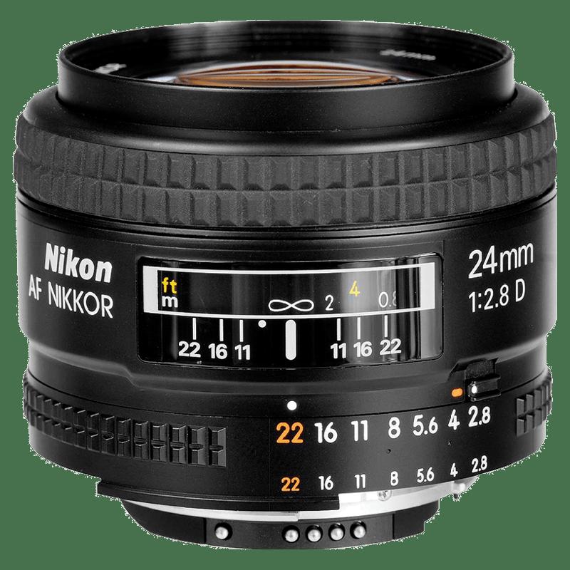 Nikon AF Nikkor 24 mm F2.8-F22 Lens (Black)_1
