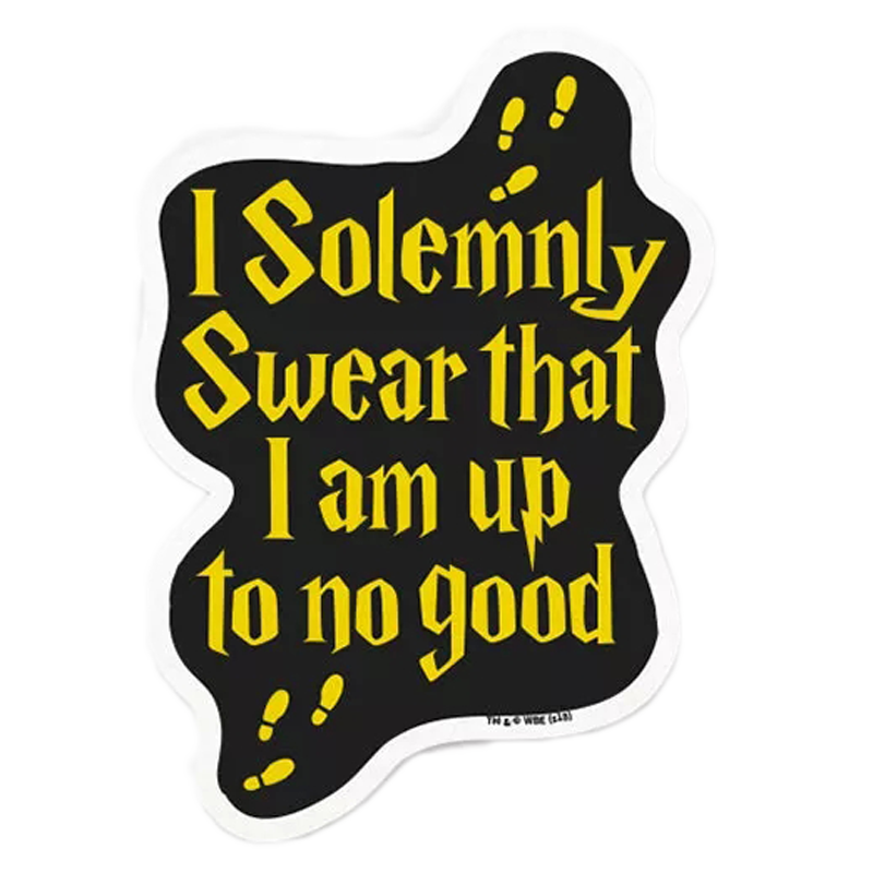 The Souled Store Harry Potter Mischief Managed Sticker (Gold/Black)_1