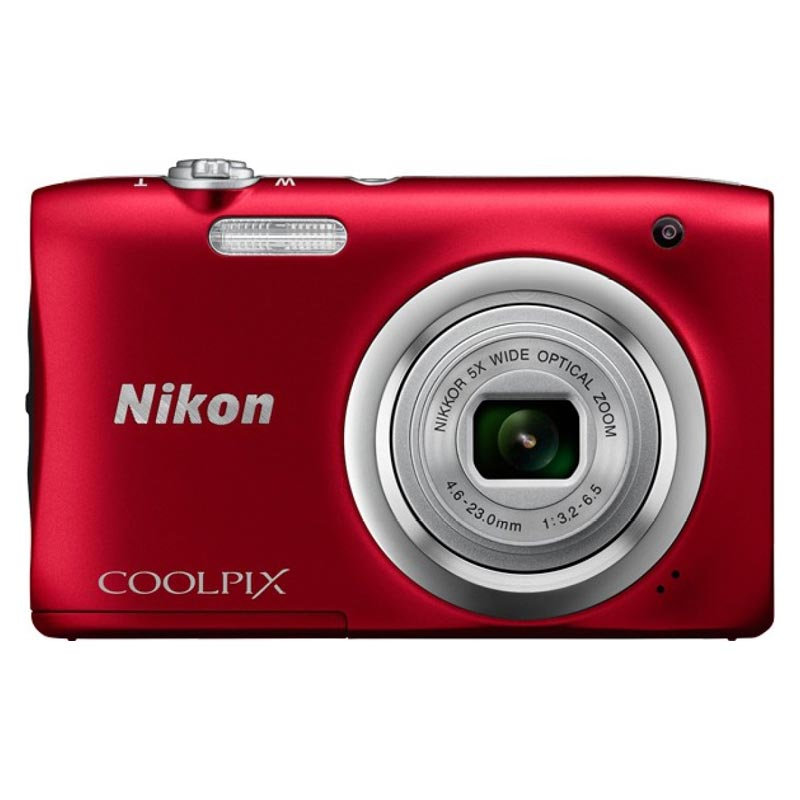 Nikon Coolpix 20.1 MP Point & Shoot Camera (A100, Red)_1