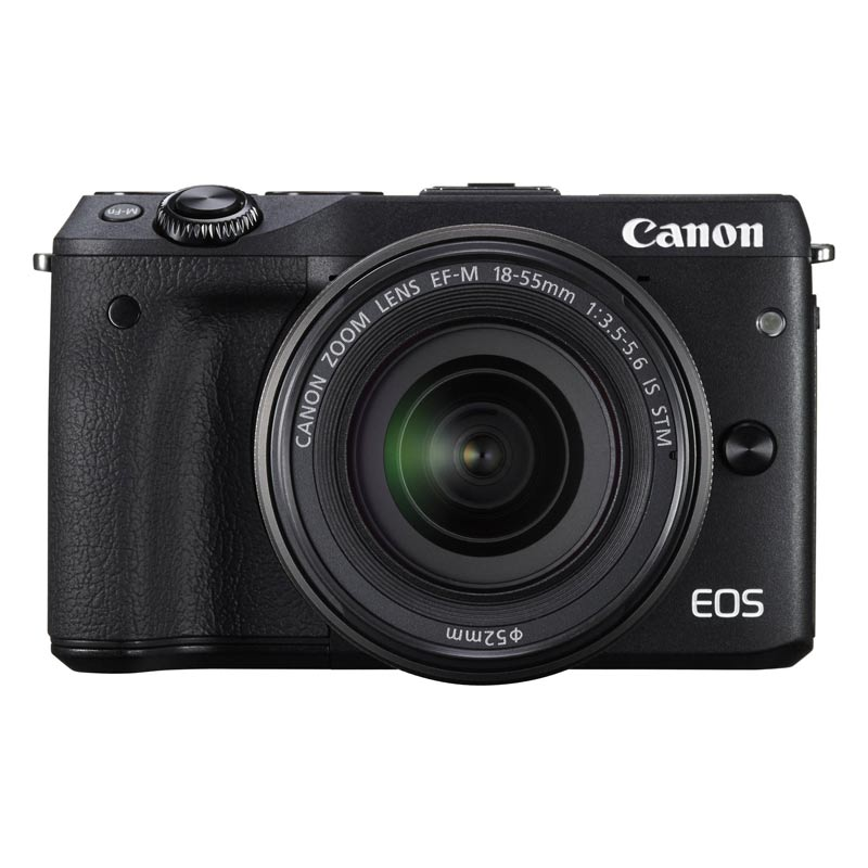 Canon 24.2 MP Mirrorless Camera Body with 18 - 55 mm Lens (EOS M3, Black)_1