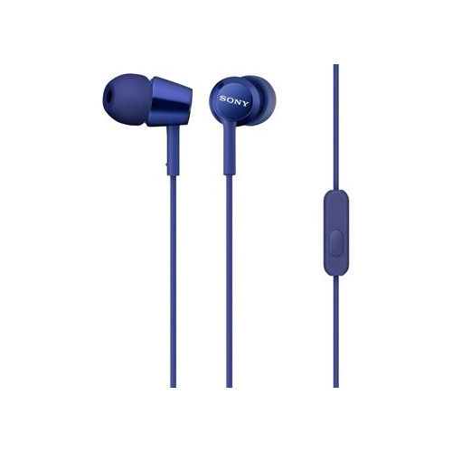 Sony EX Monitor In-Ear Wired Earphones with Mic (MDR-EX150AP/LI, Dark Blue)_1