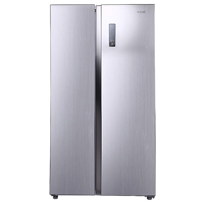 Croma 592 Litres Frost Free Double Door Side-by-Side Inverter Refrigerator (CRAR2621, Silver)_1