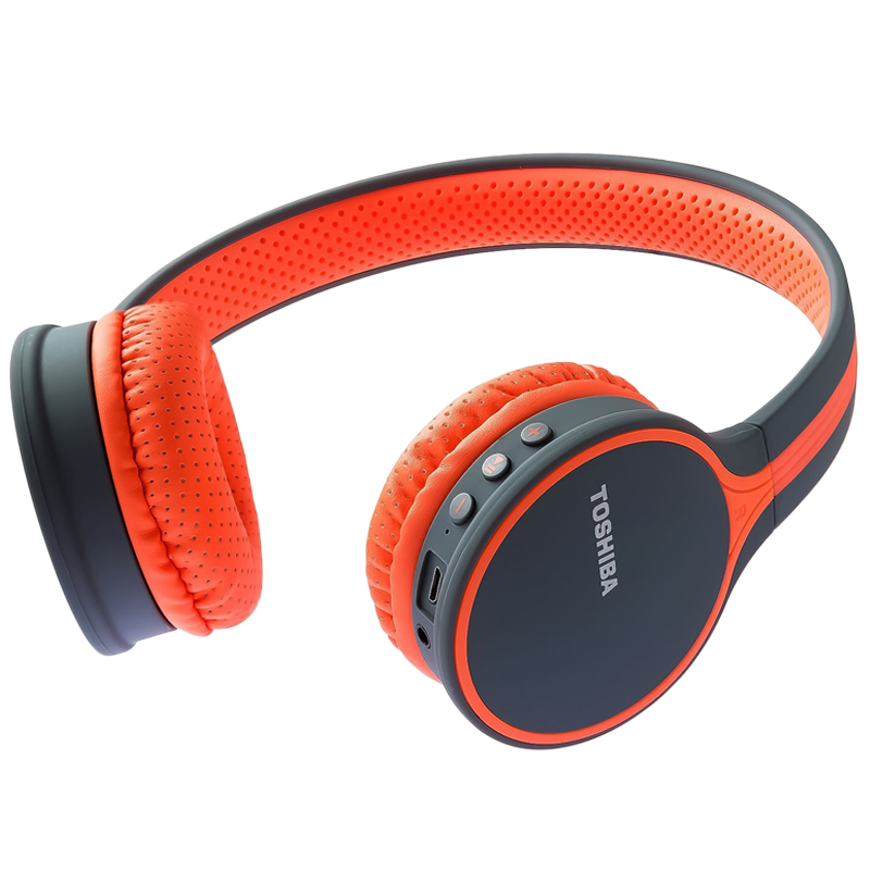 Toshiba Wireless Bluetooth Headphone (RZE-BT180H, Orange)_1