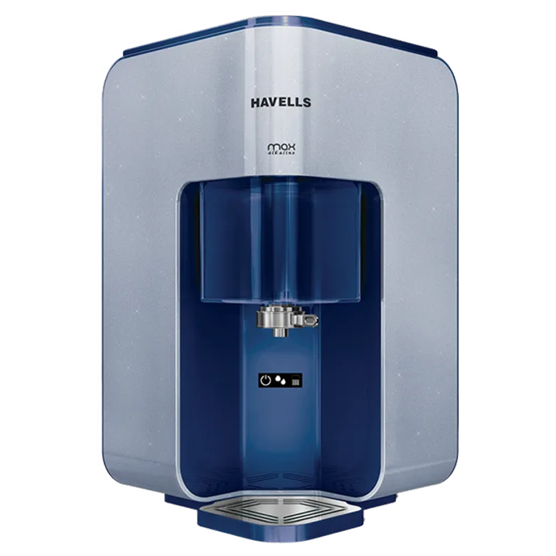 Havells Max Alkaline 7 litres RO+UV Water Purifier (GHWRPMD015, Blue)