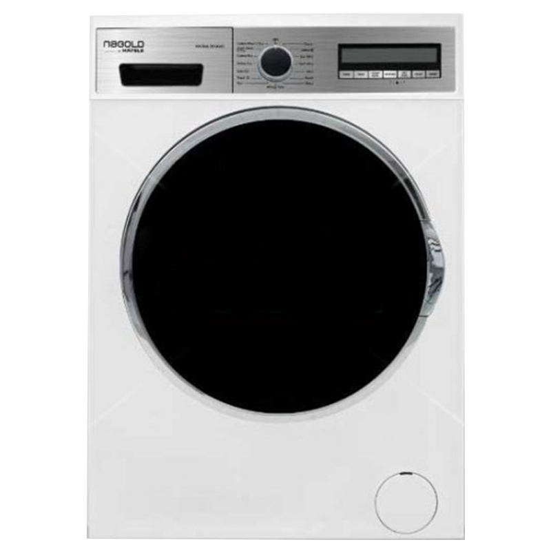 Hafele 8 Kg/6 Kg Fully Automatic Front Load Washer Dryer Combo (1400 RPM Spin Speed, Marina 8614WD, White)_1