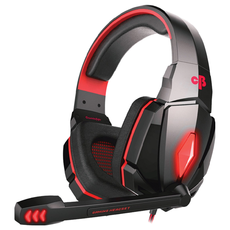 Cosmic Byte G4000 Gaming Headset with Mic (Red)_1