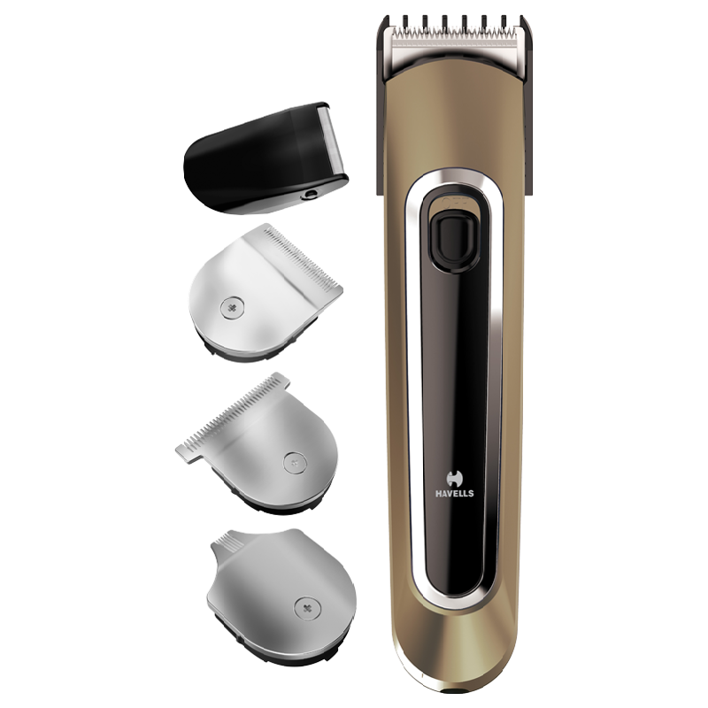 Havells Stainless Steel Blades Cordless 4-in-1 Grooming Kit (Rechargeable Kit, GS6451, Brown)_1
