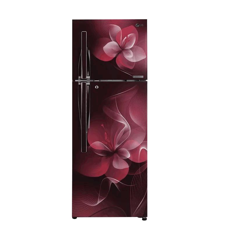 LG 260 L 3 Star Frost Free Double Door Inverter Refrigerator (GL-C292RSDU, Scarlet Dazzle)_1