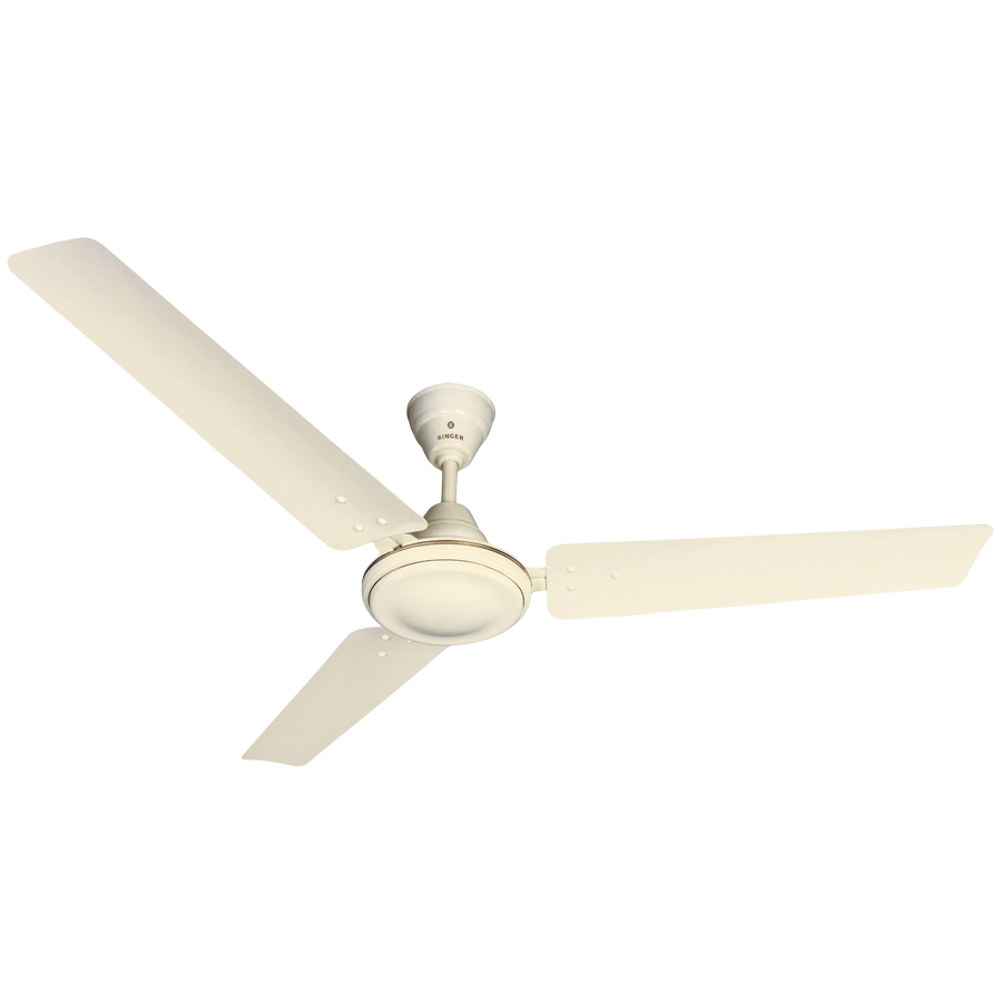 Singer Aerostar Supreme 120cm Sweep 3 Blade Ceiling Fan (Silent Operation, Ivory)_1