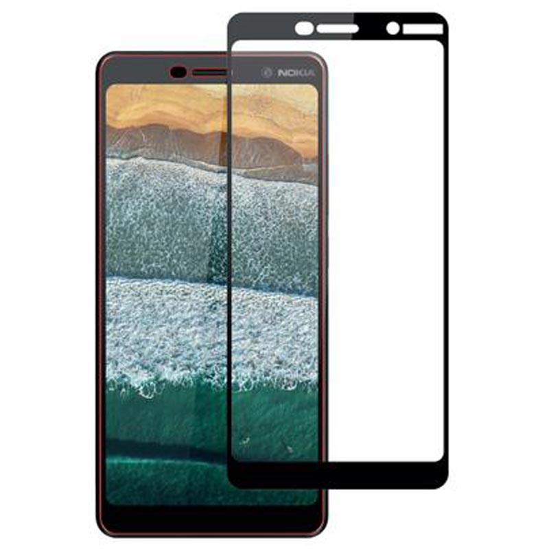Stuffcool Mighty 2.5D Tempered Glass Screen Protector for Nokia 7 Plus (MGGP25DNK7P, Black)_1