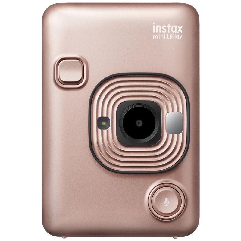 Fujifilm Instax Mini LiPlay Instant Camera (Pick and Print, Blush Gold)_1
