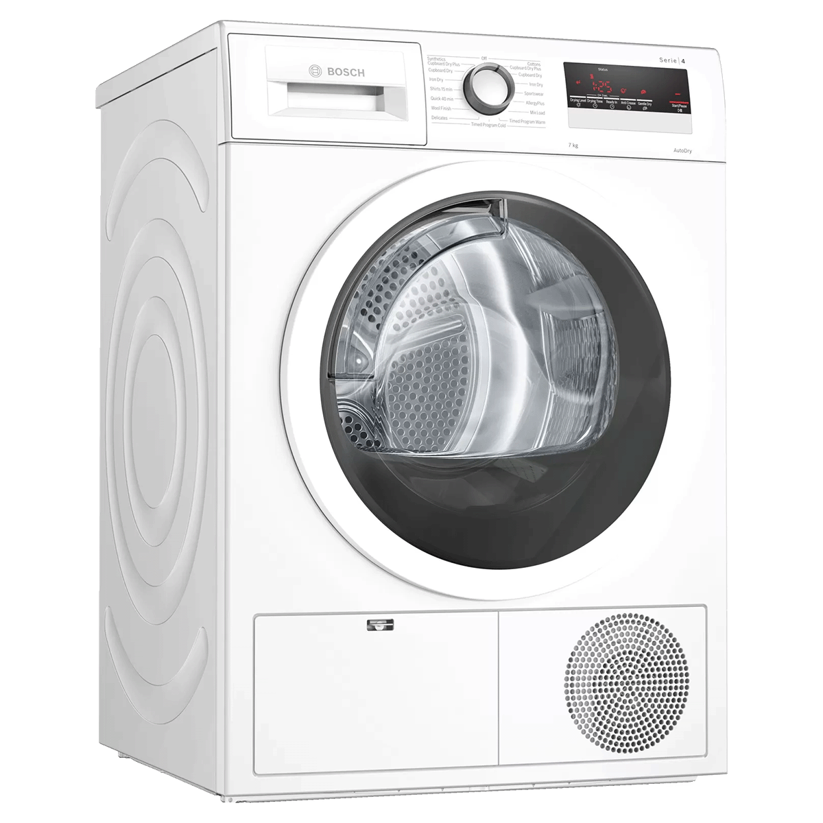 Bosch 7 kg Fully Automatic Front Loading Condenser Dryer (AllergyPlus Programme, WTN86203IN, White)_1
