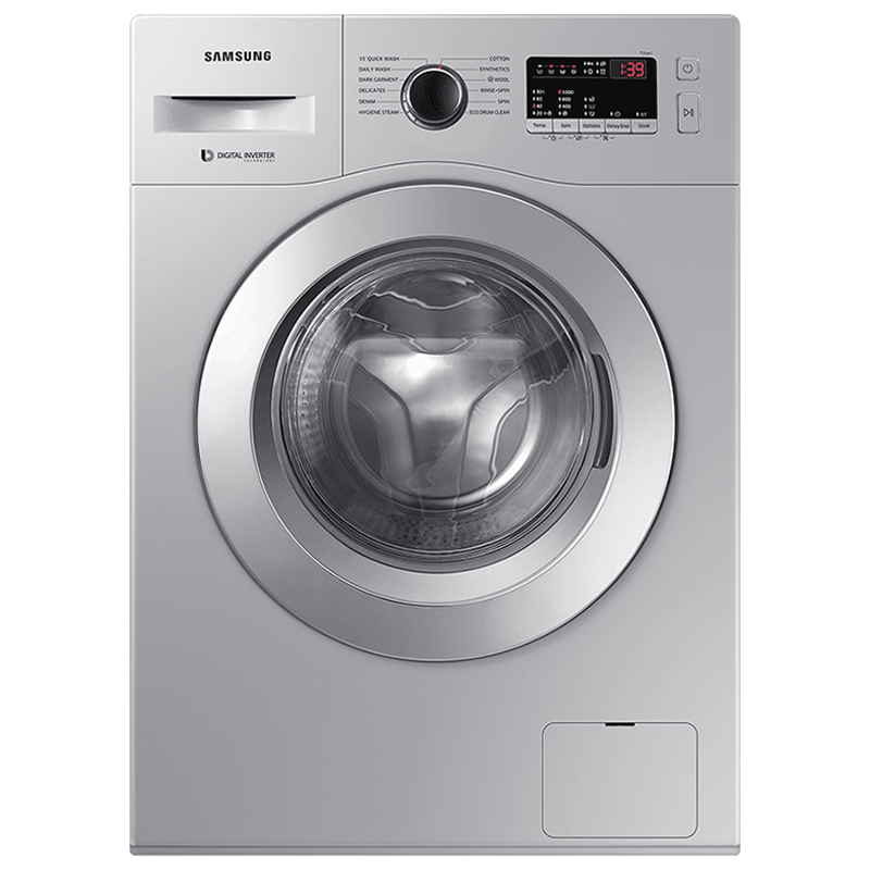 Samsung 6.5 kg 5 Star Fully Automatic Front Load Washing Machine (12 Wash Programs, WW66R20GKSS/TL, Silver)