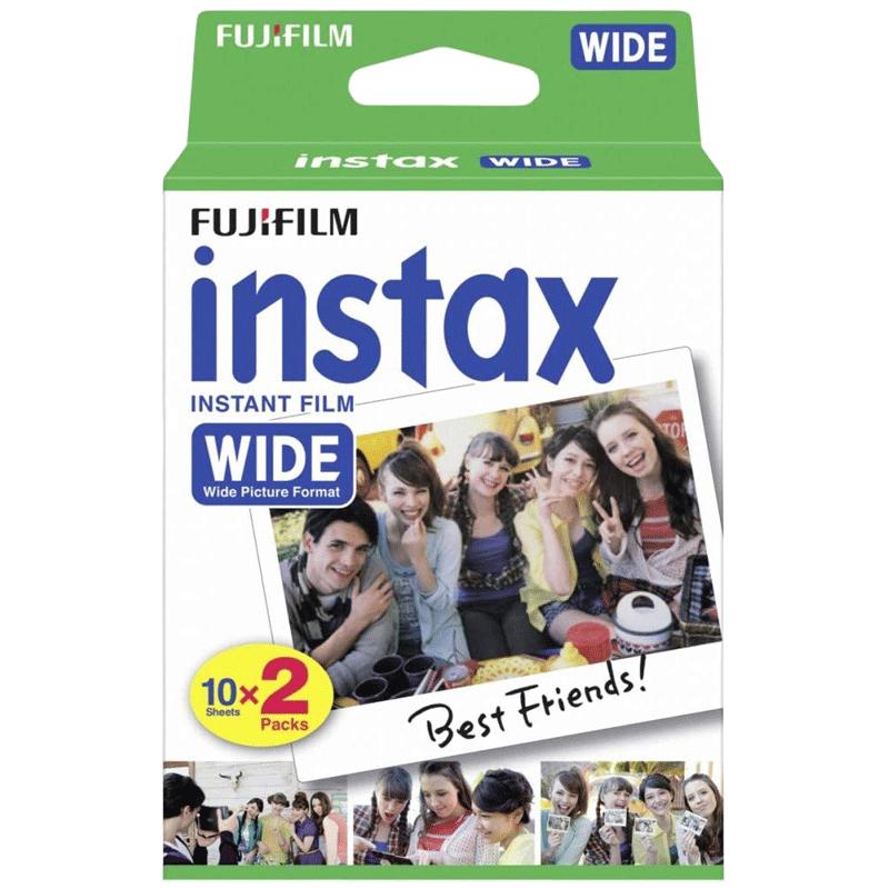 Fujifilm Instax Wide Film Sheet (54 x 86 mm) Gloss Paper (20 Shots, 16385995, White)_1