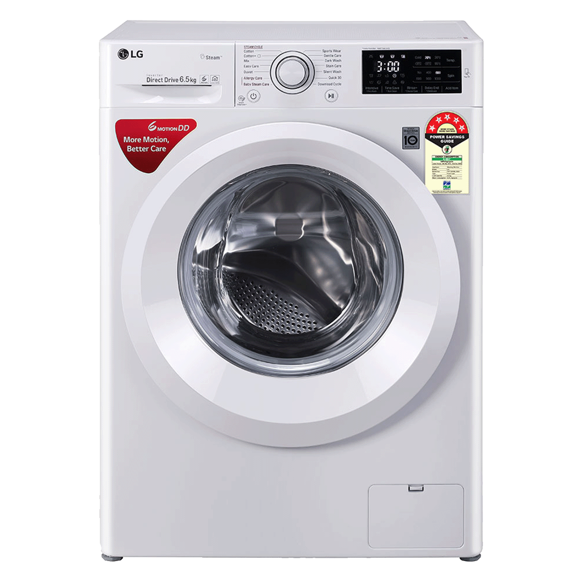 LG 6.5 Kg 5 Star Fully Automatic Front Load Washing Machine (FHT1065HNL.ALSQEIL, Luxury Silver)_1