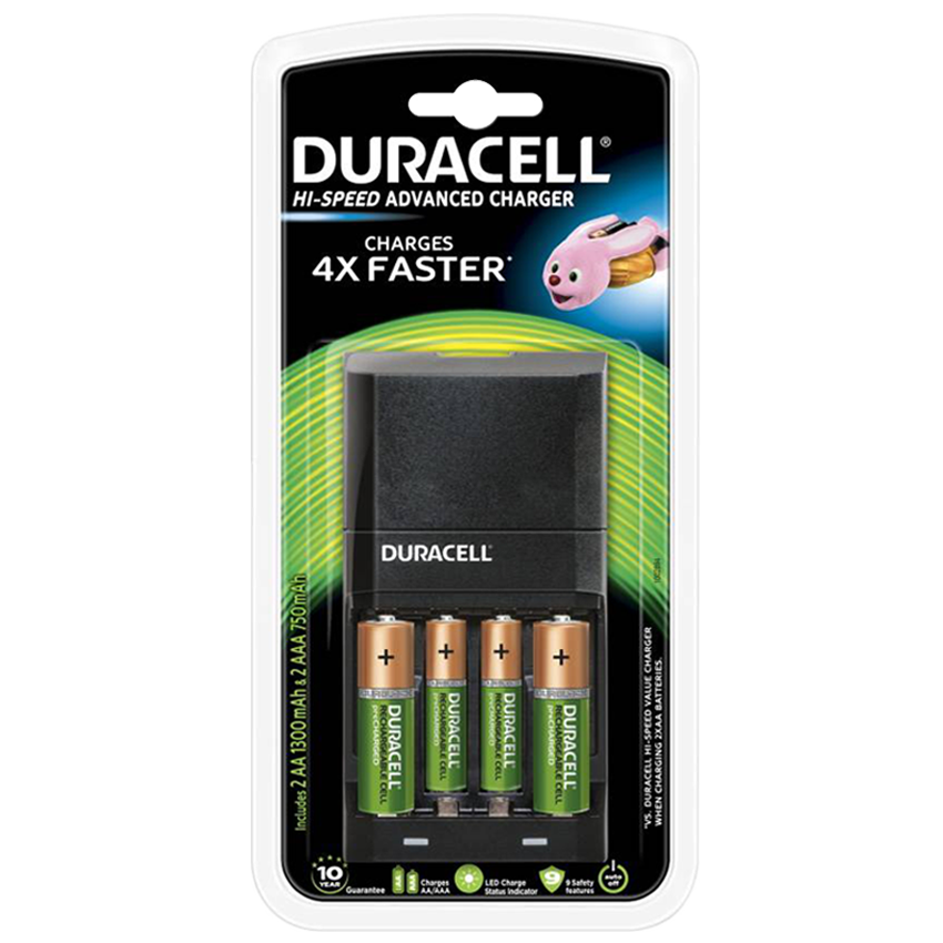 Duracell AA Rechargeable Battery Pack (CEF27, Black)_1