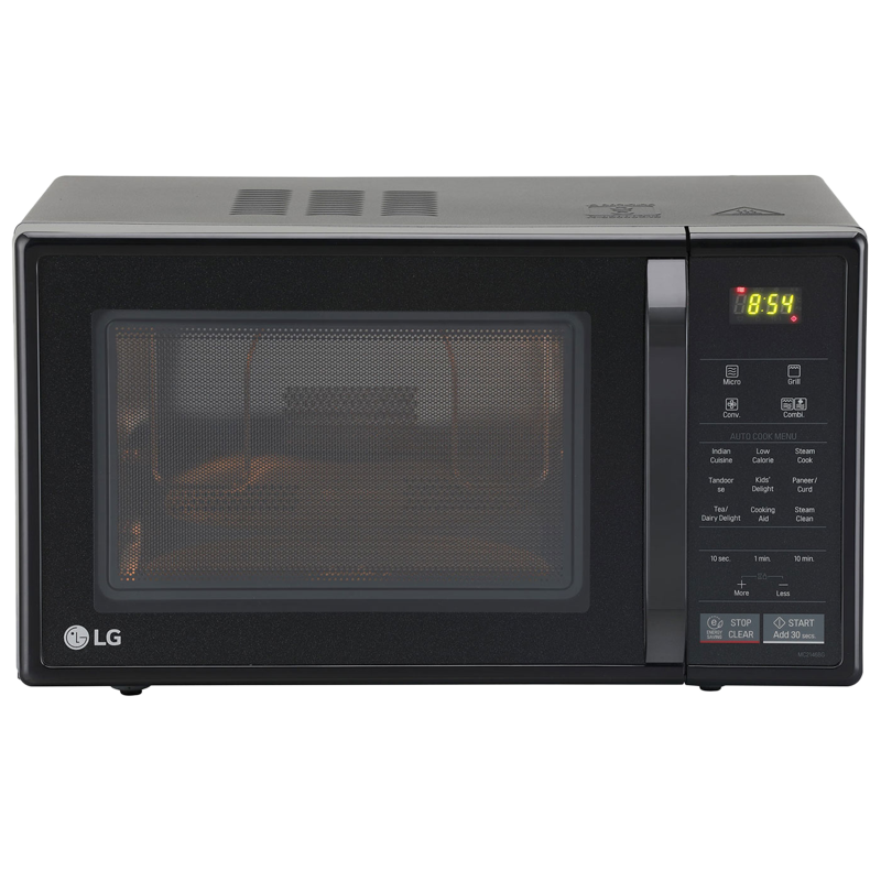 LG 21 litres Convection Microwave Oven (MC2146BG, Glossy Black)_1