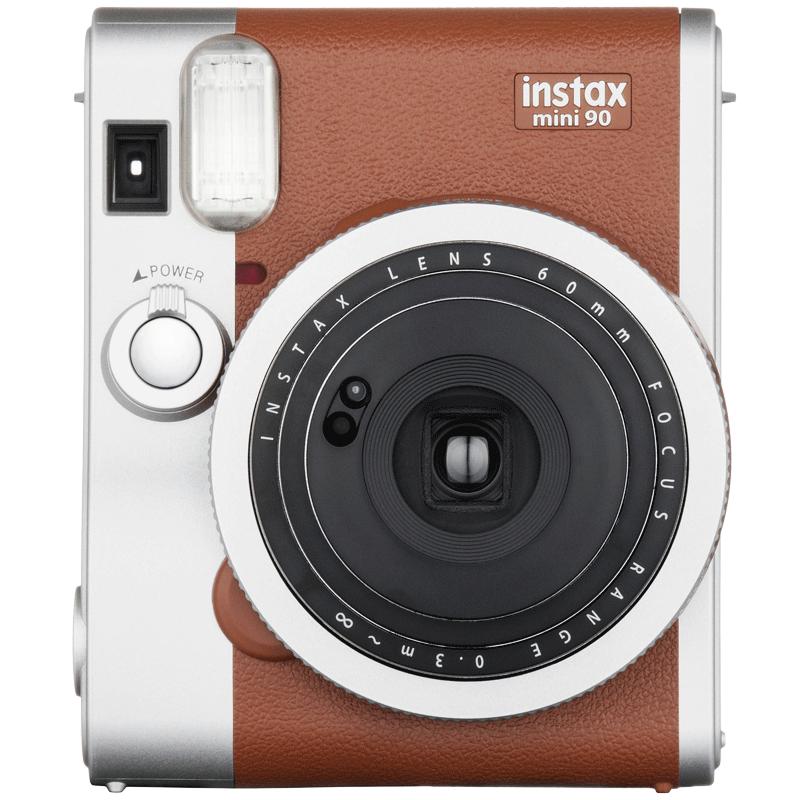 Fujifilm Instax Mini 90 Instant Camera (Double Exposure Mode, Brown)_1