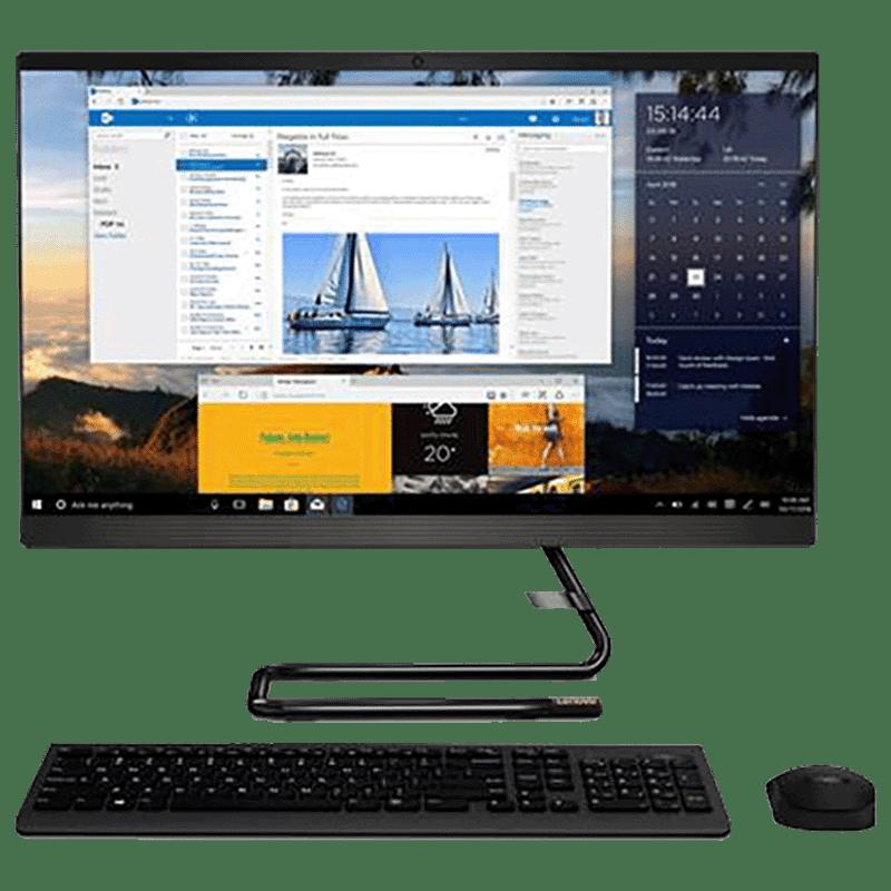 Lenovo Ideacentre A340 (F0E800Q1IN) Core i5 10th Gen All-In-One Desktop (8GB RAM, 1TB HDD, Intel UHD Graphics, MS Office, 60.45cm, Business Black)_1
