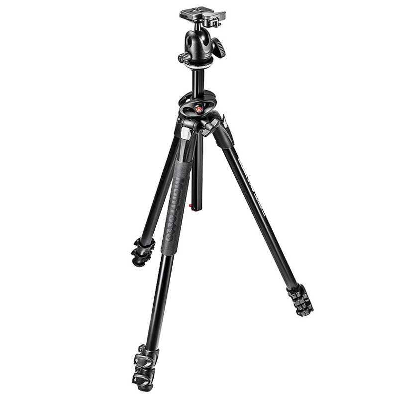 Manfrotto Adjustable 172 cm Tripod For DSLR Cameras (Up to 5 Kg, Adjustable Flip Locks, MK290DUA3-BH, Black)_1