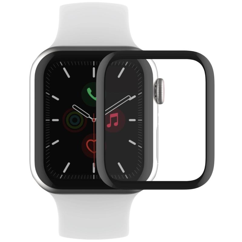 Belkin Screenforce Trueclear Curve Screen Protector for Apple Watch Series 44 mm 4/5 (Anti-Fingerprint, OVG002ZZBLK, Clear)_1