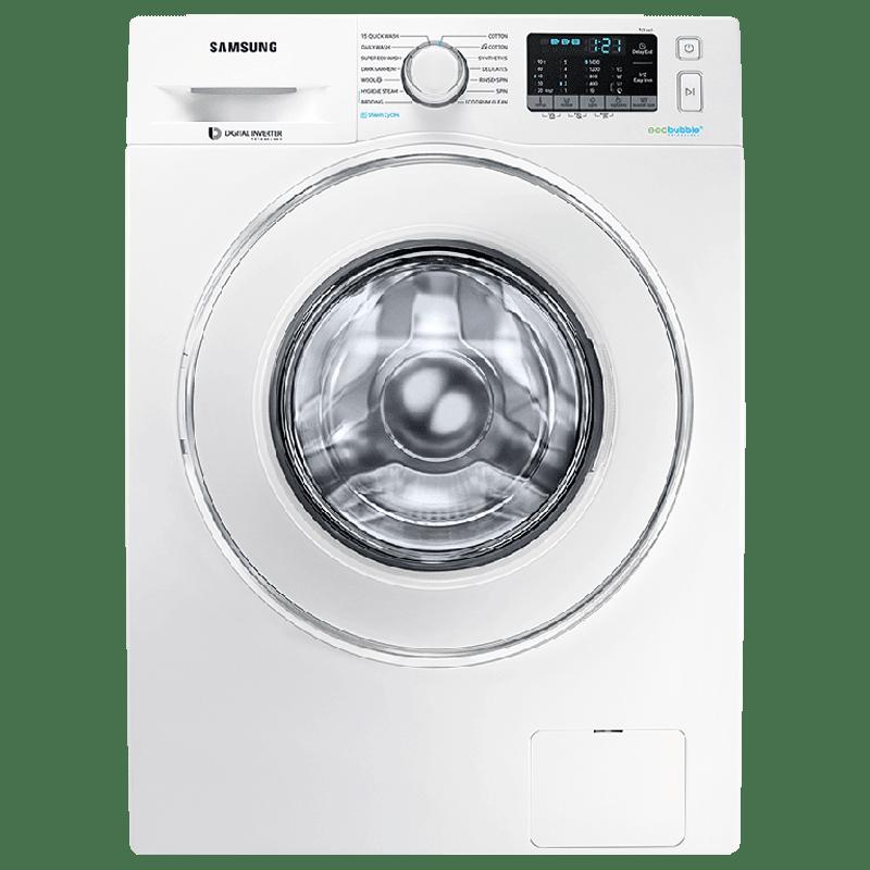Samsung 8 kg 5 Star Fully Automatic Front Load Washing Machine (Hygiene Steam, WW81J54E0IW/TL, White)_1