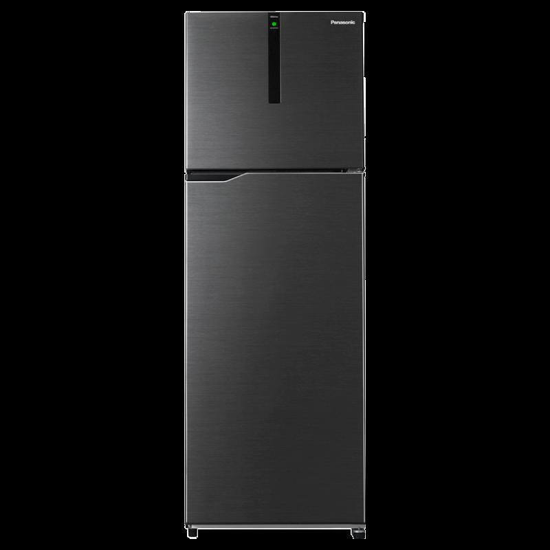 Panasonic 336 Litres 3 Star Frost Free Inverter Double Door Refrigerator (ECONAVI: Smart Cooling Technology, NR-BG343PBK3, Black)_1