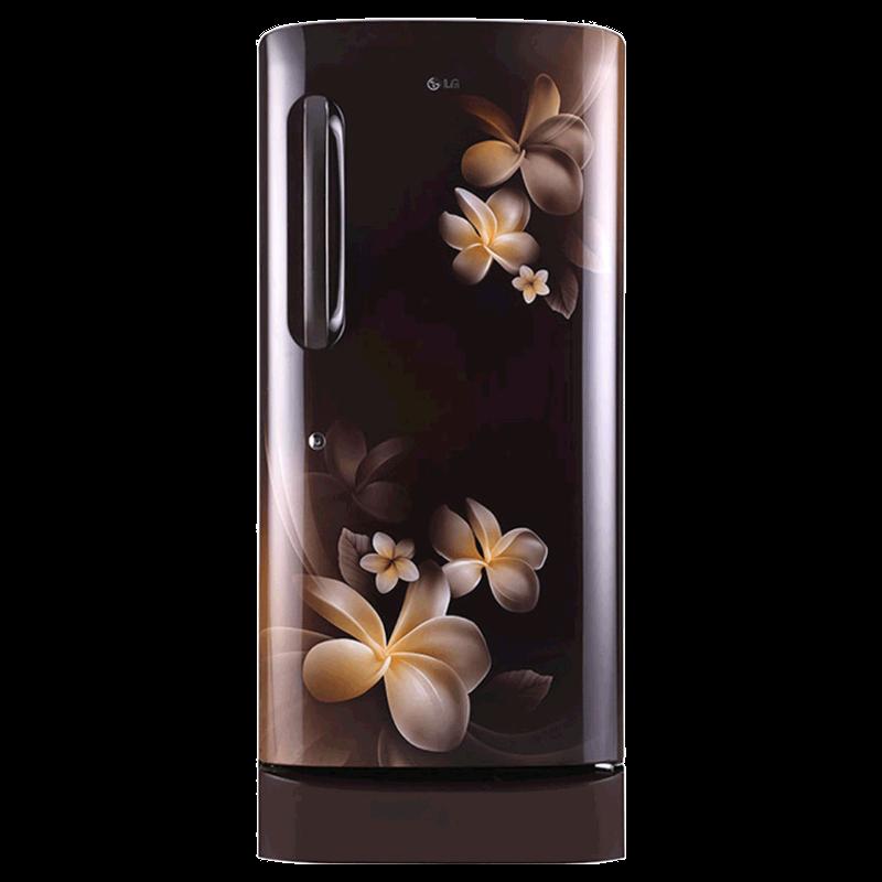 LG 215 Litres 4 Star Direct Cool Inverter Single Door Refrigerator (Smart Connect, GL-D221AHPY.DHPZEB, Hazel Plumeria)_1