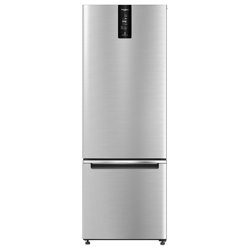Whirlpool 355 Litres 3 Star Frost Free Inverter Double Door Refrigerator (Bottom Mount, Adaptive Intellisense Technology, IFPRO BM INV 370 ELT+, Omega Steel)_1