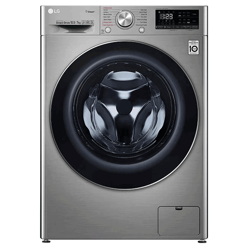 LG 10.5 kg/7 kg Fully Automatic Front Load Washer Dryer Combo (LG Steam Technology, FHD1057SWS.ASSPEIL, Silver VCM)_1