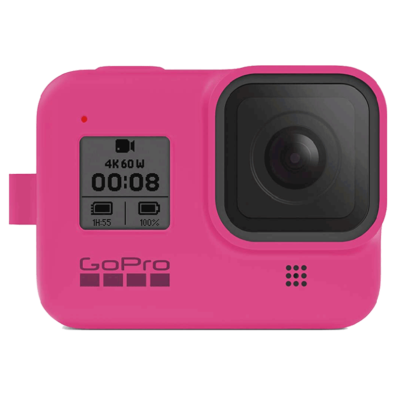 GoPro Sleeve Plus Lanyard for Hero 8 (AJSST-007, Electric Pink)_1