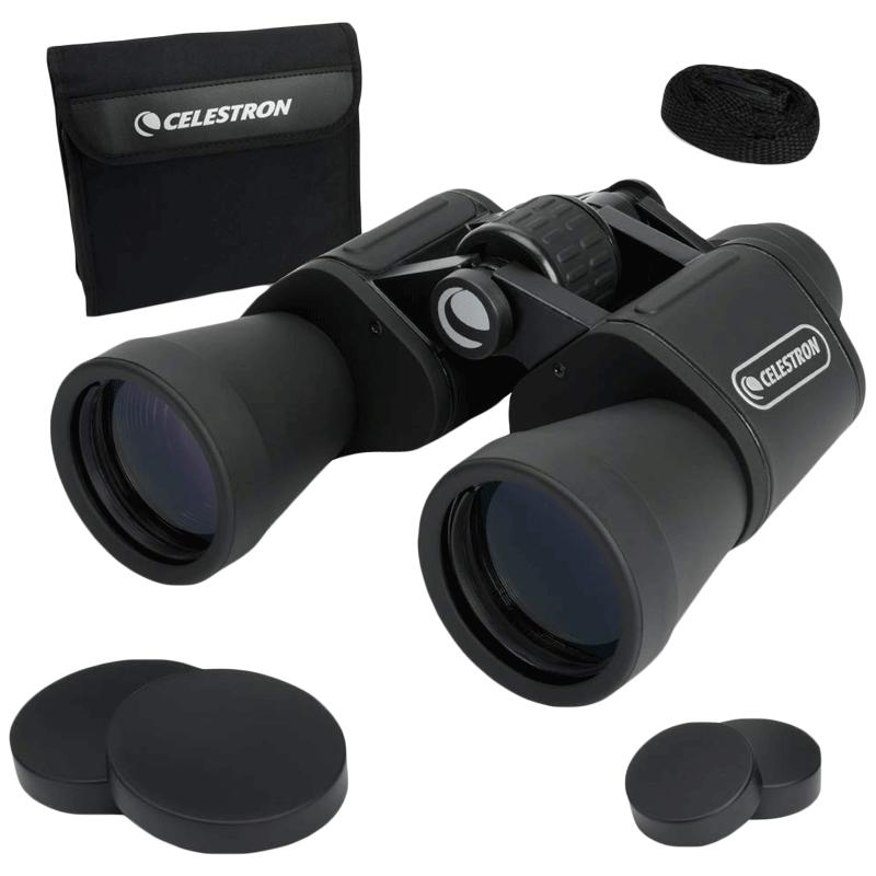 Celestron Upclose 10 x 50 mm Porro Prism Optical Binoculars (Water Resistant, G2 10X50, Black)_1