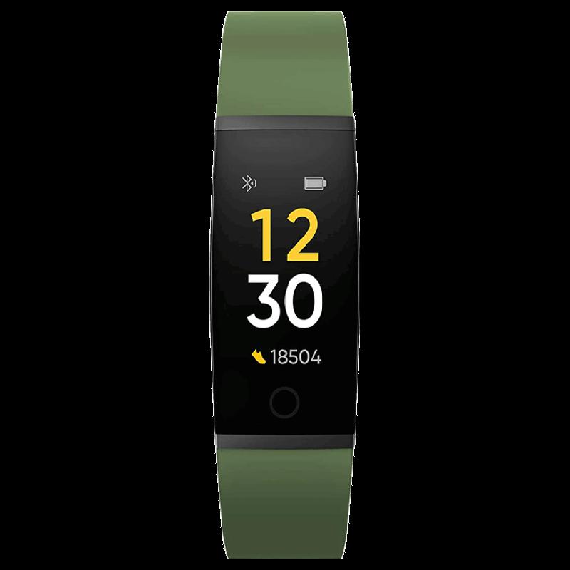 Realme Fitness Tracker (24mm) (Heart Rate Sensor, RMA183G, Black/Green, TPU Band)_1