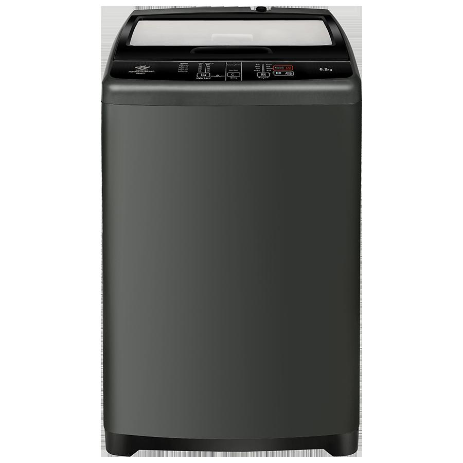 Haier 6.2 kg Fully Automatic Top Loading Washing Machine (HWM62-707BKNZP, Titanium Grey)_1