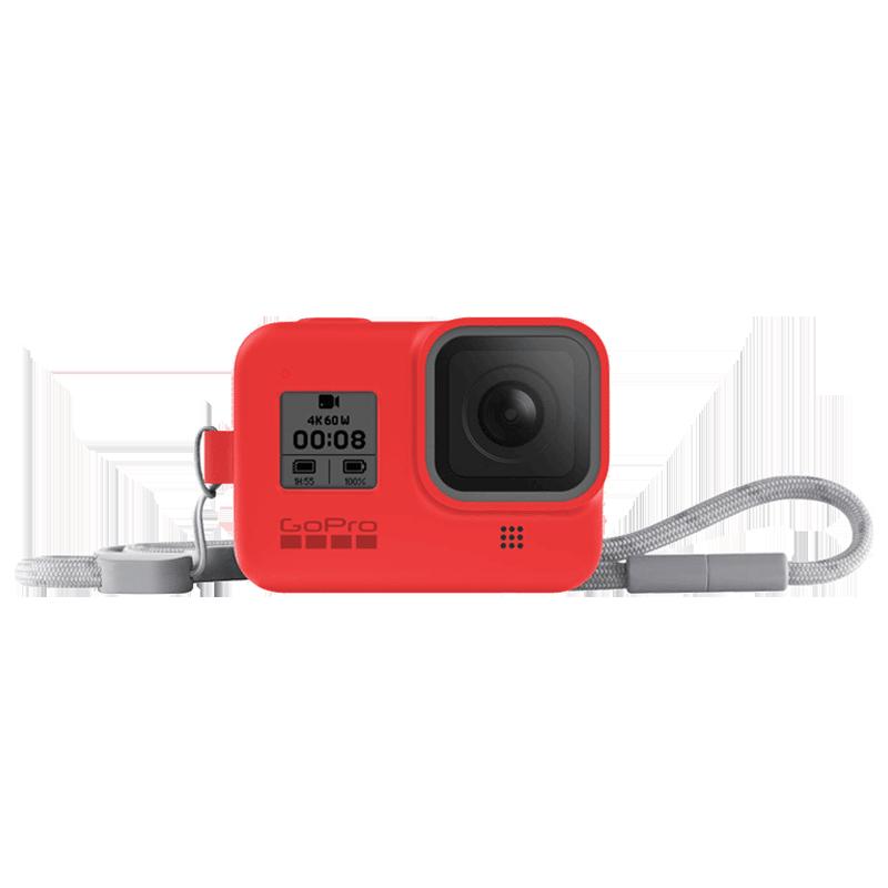 GoPro Sleeve Plus Lanyard for Hero 8 (AJSST-008, Firecracker Red)_1