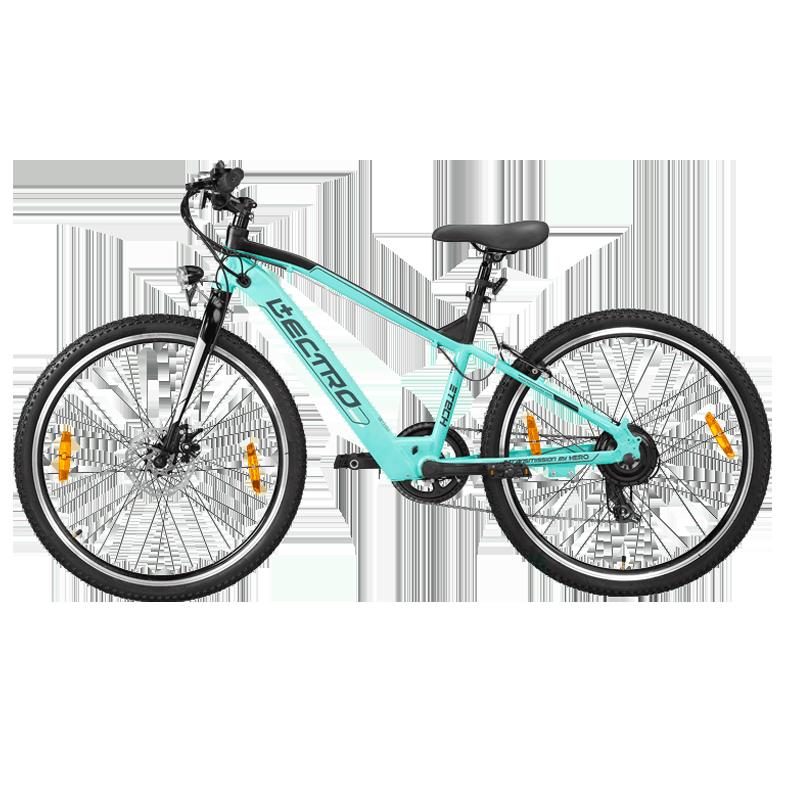 Hero Lectro Glide 26T 7 Speed Unisex E-Bike (SGLI26BLBK01HM, Aqua)_1
