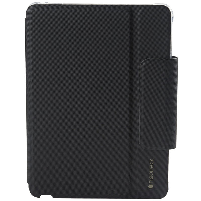 Neopack Artificial Leather Keyboard Folio Case for 10.2 Inch iPad (Shock Proof, 7PADA10, Black)_1