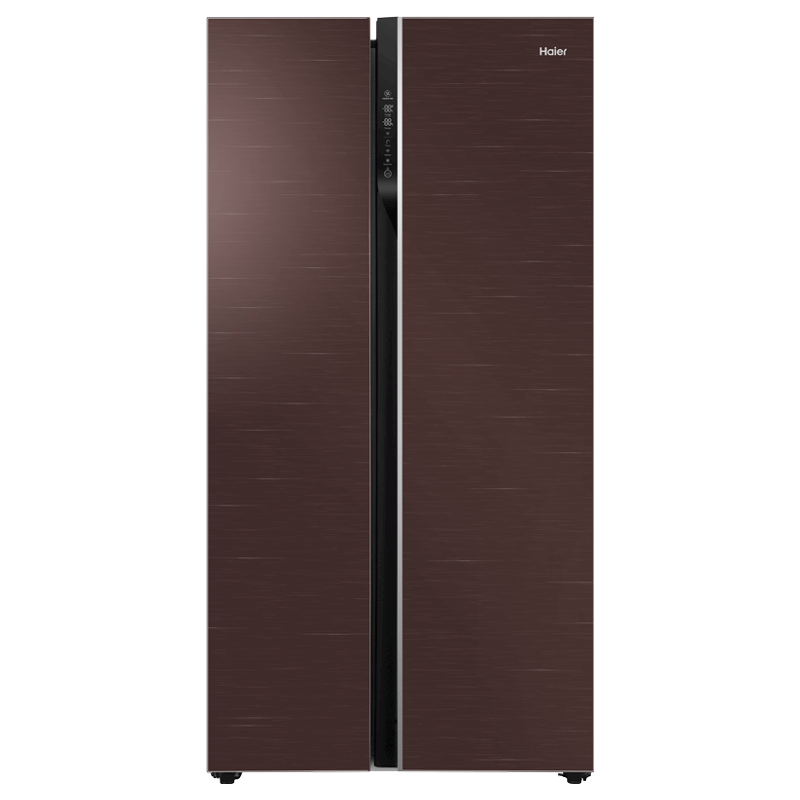 Haier 570 Litres Frost Free Side-by-Side Door Refrigerator (Digital Control Panel, HRF-622CG, Chocolate Glass)_1