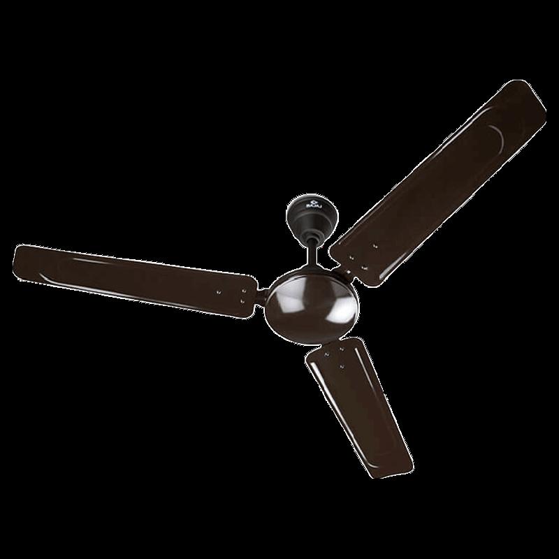 Bajaj Shimmer Bye-Bye Dust 120cm Sweep 3 Blade Ceiling Fan (Low Power Consumption, 251059, Pearl Choko)_1