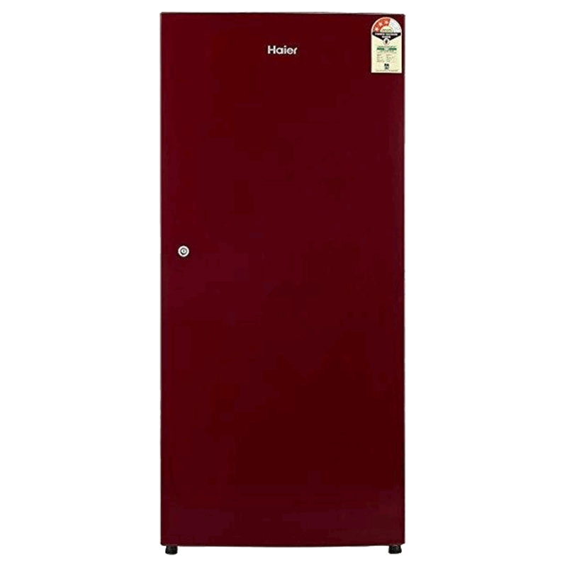 Haier 195 Litres 3 Star Direct Cool Single Door Refrigerator (Stabilizer Free Operation, HRD-1953CCR-E, Red Brushline)