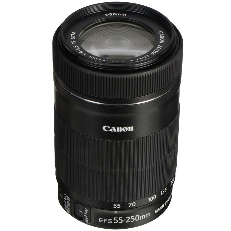 Canon Lens (EF-S 55-250 mm f/4-5.6 IS STM, Black)_1