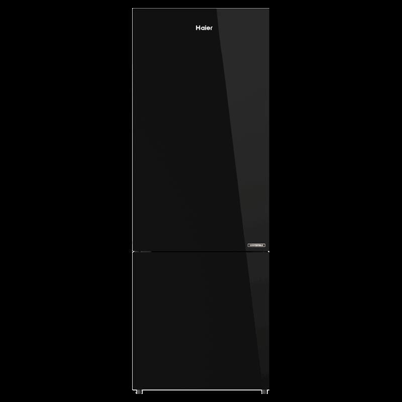Haier 256 Litres 3 Star Frost Free Inverter Double Door Refrigerator (Bottom Mount, Twin Energy Saving Mode, HRB-2764PBG-E, Black Glass)_1
