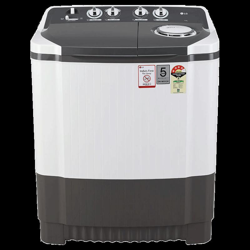 LG 7 Kg 4 Star Semi Automatic Top Load Washing Machine (P7020NGAY, Dark Grey)_1