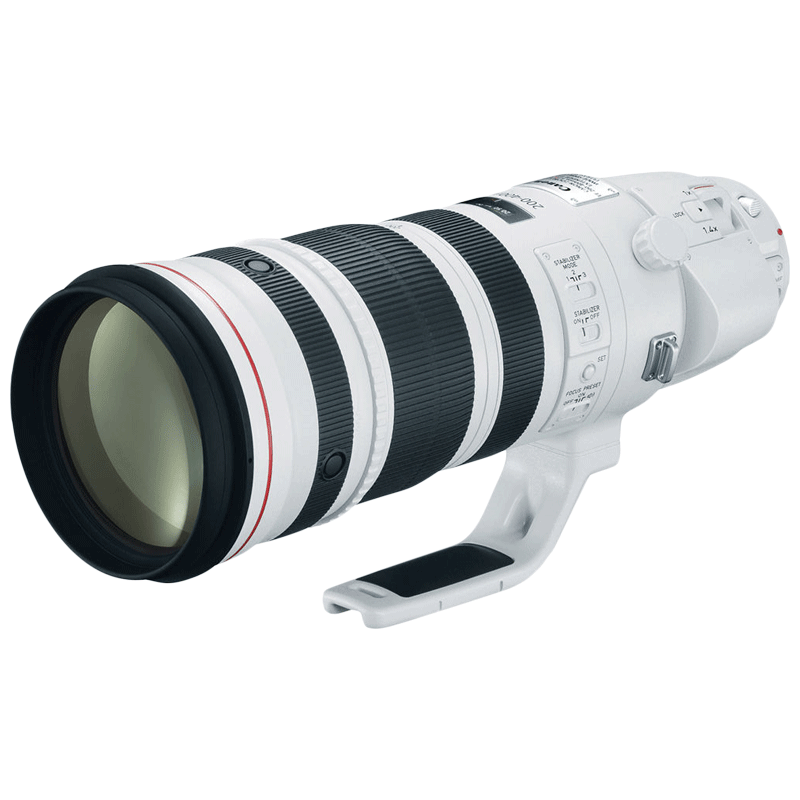 Canon Lens with Built-in 1.4x Extender (EF 200-400 mm f/4L IS USM, White)_1