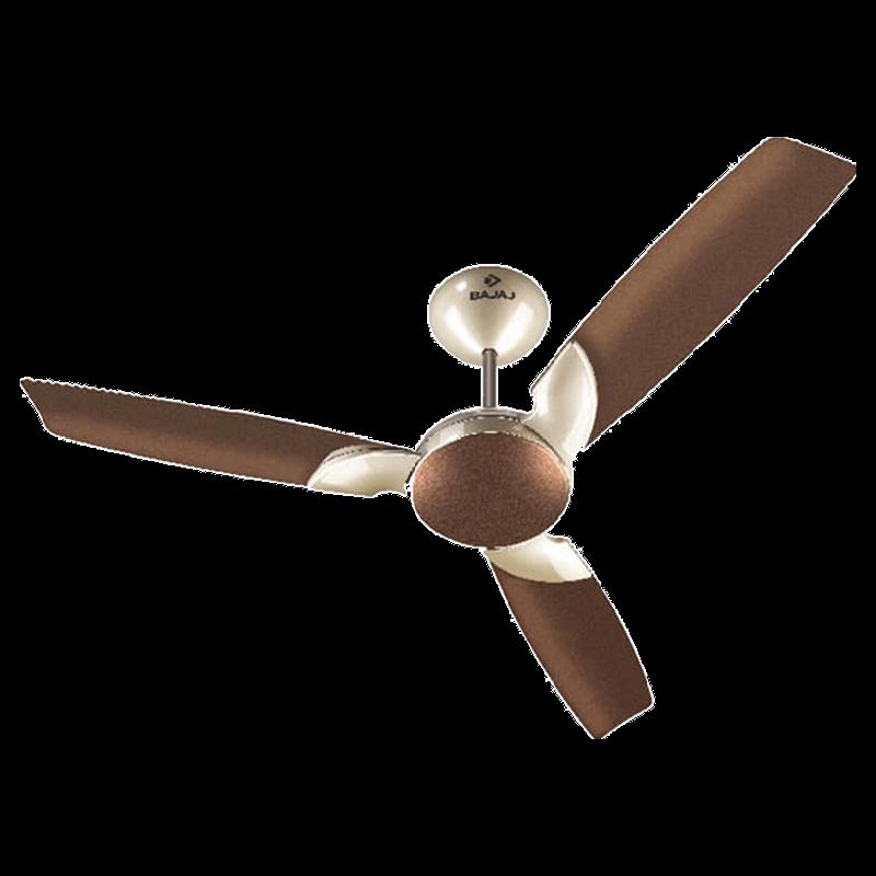 Bajaj Harrier Anti-Germ Bye-Bye Dust 120cm Sweep 3 Blade Ceiling Fan (Aerodynamic Design, 251003, Honey Brown)_1