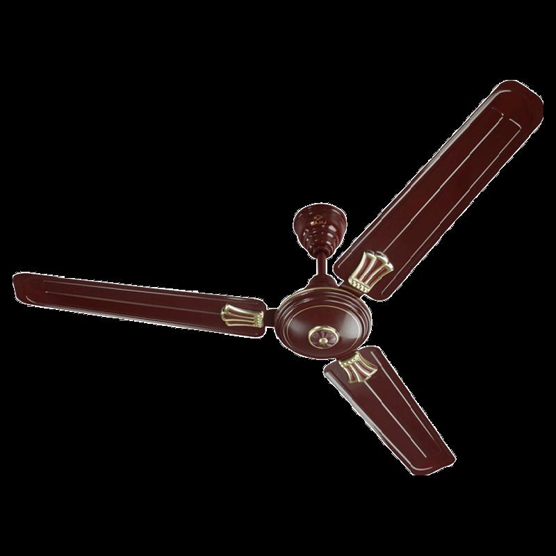 Bajaj New Bahar Deco 120cm Sweep 3 Blade Ceiling Fan (Double Ball Bearing, 250839, Brown)_1