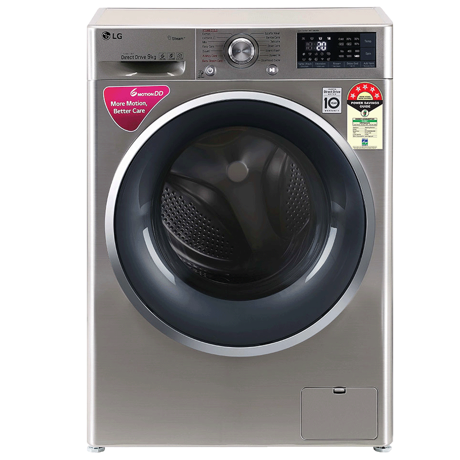 LG 8 Kg Fully Automatic Front Loading Washing Machine (FHT1408ZWS.ASSQEIL, VCM + Chrome)